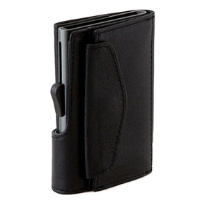 C-Secure Coin Genuine Leather Wallet - CNWCH Nero
