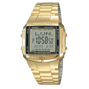 Casio Men's Grey Dial Gold plated Case and band Digital Watch DB360G-9A
