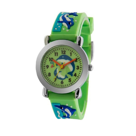 Eliz Kids Polyurethane Band Watch EK1002 Light Green
