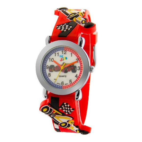 Eliz Kids Polyurethane Band Watch EK1002 Red