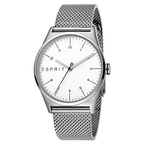 Esprit Men's White Dial Stainless Steel Mesh Band Watch - ES1G034M0055 1