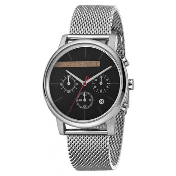 Esprit Men's Black Dial Stainless Steel Mesh Band Watch - ES1G040M0045