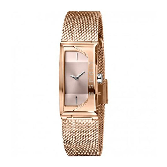Esprit Women's Rose Gold Stainless Steel Mesh Band Watch ES1L015M0035