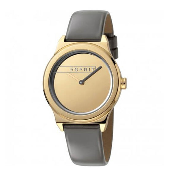 Esprit Women's Gold Dial Leather Strap Analog Watch - ES1L019L0035 1