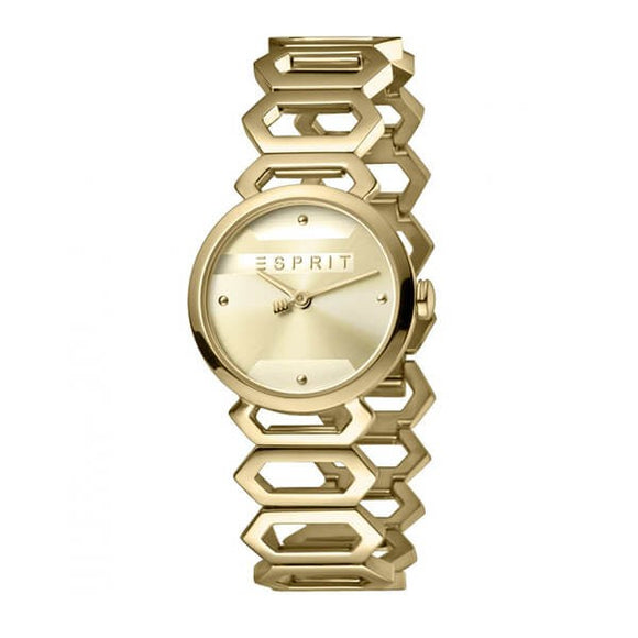 Esprit Women's Champagne Dial Stainless Steel Band Watch ES1L021M0045 1