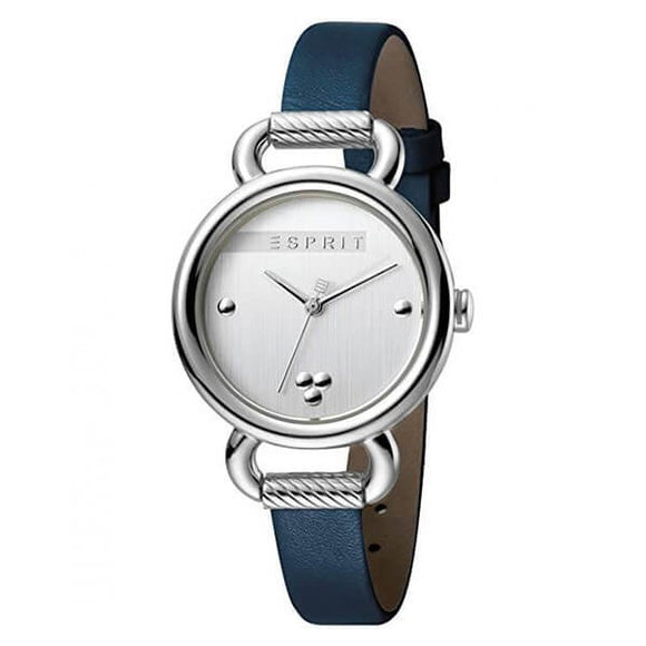 Esprit Women's Silver Dial Leather Strap Analog Watch - ES.1L023L0015 1