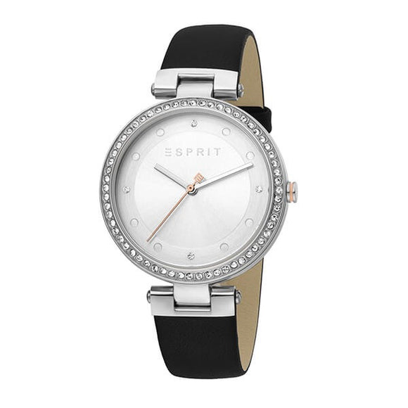 Esprit Women's White Dial Leather Strap Analog Watch - ES1L151L0015