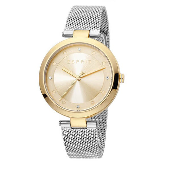 Esprit Women's Gold Dial Stainless Steel Analog Watch - ES1L165M0085 1