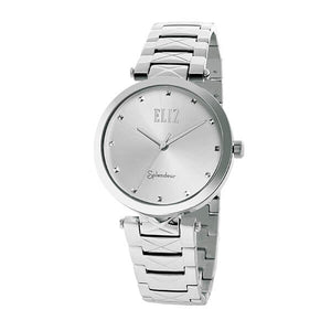 Eliz women's White Dial stainless steel case and band analog Watch ES15-8492L SWS 1