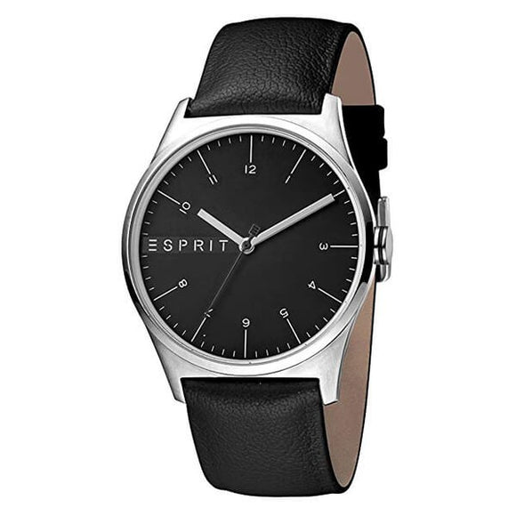 Esprit Men's Leather Strap Analog Watch - ES1G034L0025
