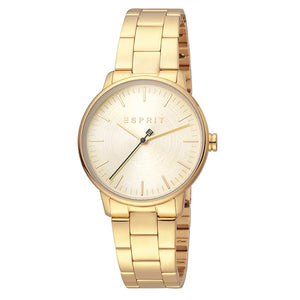 Esprit Women's Gold Plated Stainless Steel Analog Watch - ES1L154M0065