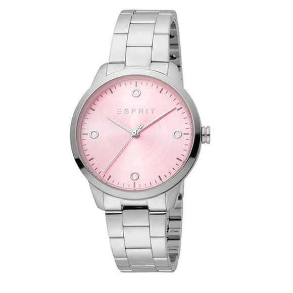 Esprit Women's Pink Dial Stainless Steel Analog Watch - ES1L164M0045 1