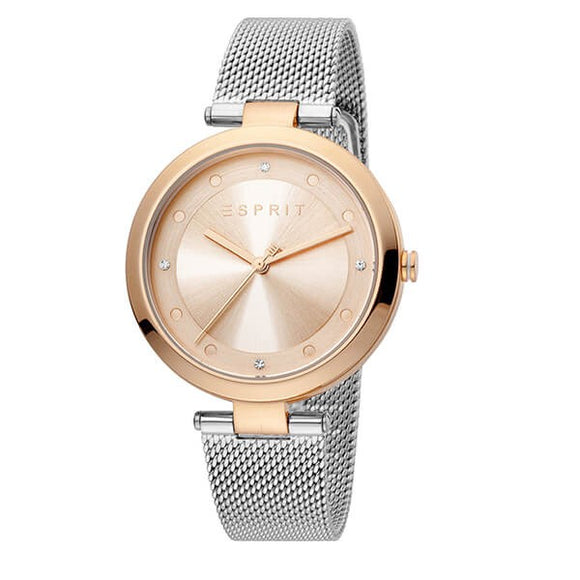 Esprit Women's Rose Gold Dial Stainless Steel Watch - ES1L165M0095 1