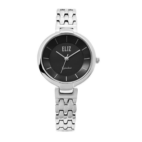 Eliz Women's Black Dial stainless steel case and Band Analog Watch ES8606L2SNS 1