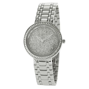 Eliz Women's White Dial Austrian crystal stainless steel case and Band Analog Watch ES8624L1SWS