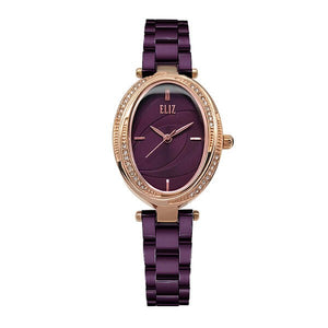 Eliz women's Purple Dial Purple Plated stainless steel case and Band Analog Watch ES8631L2RVV 1