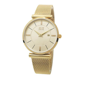 Eliz Women's Champagne Dial Stainless Steel Watch ES8635L1GCG 1