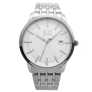 Eliz Men's White Dial Stainless Steel Case and Band Watch ES8638G2SWS 1