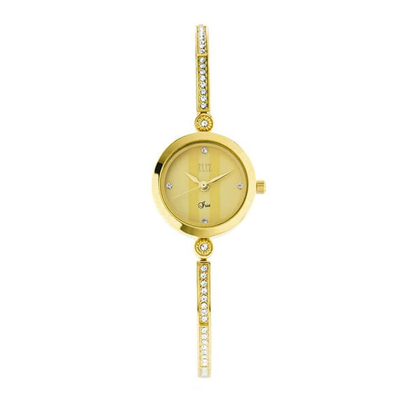 Eliz Women's Champagne Dial Gold plated Stainless Steel Case Bracelet Band Watch ES8640L2GCG 1