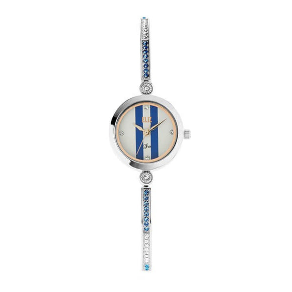 Eliz Women's White with Blue Dial Stainless Steel Case Bracelet Band Watch ES8640L2SUS 1