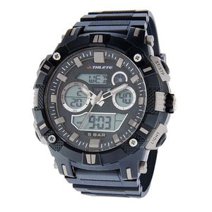 Eliz Men's Black Dial Black case Black polyurethane Band Analog-Digital Watch  ES8649G8NNN