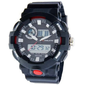 Eliz Men's Black Dial Black case Black polyurethane Band Analog-Digital Watch  ES8650G8NNN