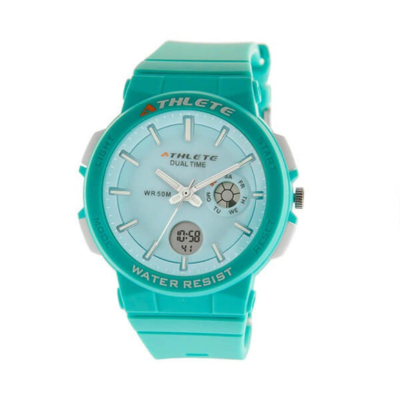 Eliz Unisex Blue Dial Blue Case and Polyurethane Band Digital and Analog Watch ES8664L8BBB 1
