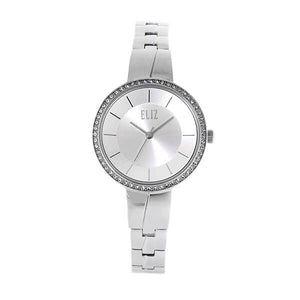 Eliz Women's White Dial Stainless steel case and band analog Watch ES8668L2SWS 1