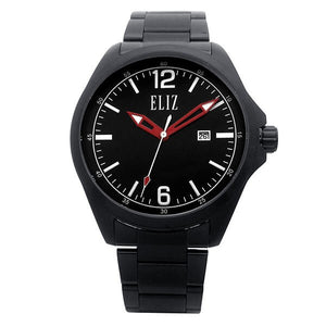 Eliz Men's Black Dial Black Plated Stainless steel case and band Analog Watch ES8680G2NNN 1