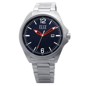 Eliz Men's Blue Dial Stainless steel case and band Analog Watch ES8680G2SBS 1