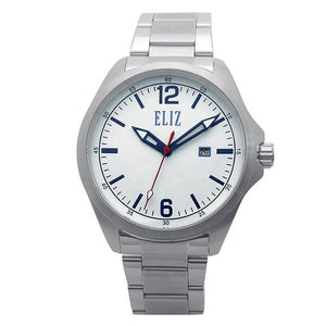 Eliz Men's White Dial Stainless steel case and band Analog Watch ES8680G2SWS 1