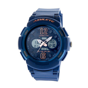 Eliz Womens Blue Dial Blue Case and Polyurethane Band Digital and Analog Watch ES8961L8BBB 1