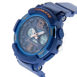 Eliz Womens Blue Dial Blue Case and Polyurethane Band Digital and Analog Watch ES8961L8BBB 2