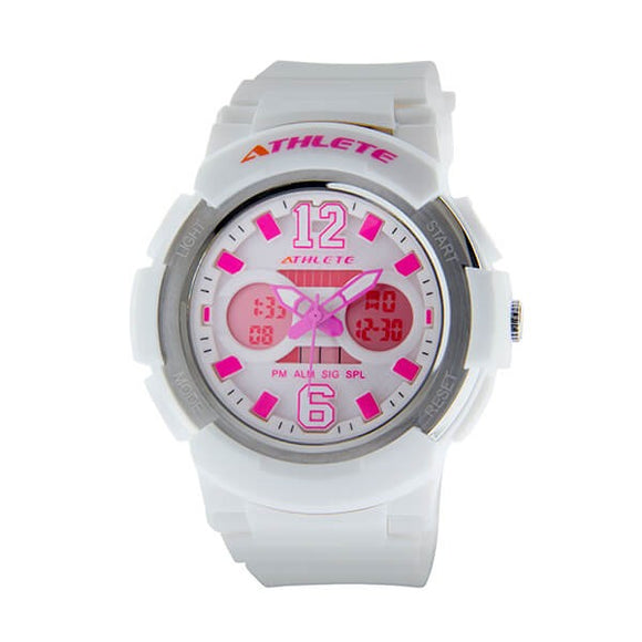 Eliz Womens White Dial White Case and Polyurethane Band Digital and Analog Watch ES8961L8WWW 1