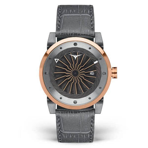 Zinvo Men's Leather Strap Automatic Mechanical Watch - Blade Fusion 1