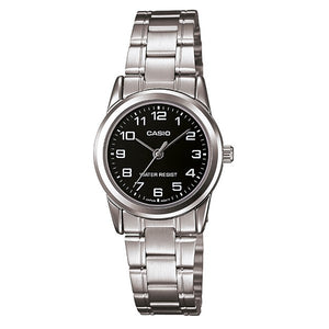 Casio Women's Black Dial Case and band Analog Watch LTP-V001D-1B