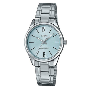 Casio Women's Blue Dial Stainless Steel Band Analog Watch LTP-V005D-2B