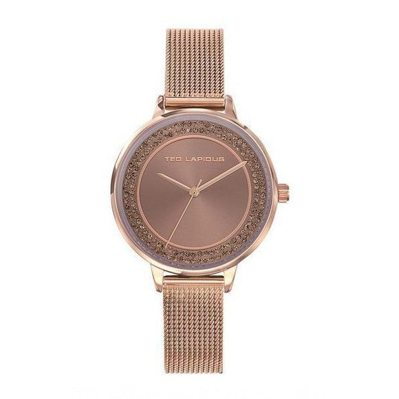 Ted Lapidus Women's Rose Gold Plated Stainless Steel Watch - A0756URMX