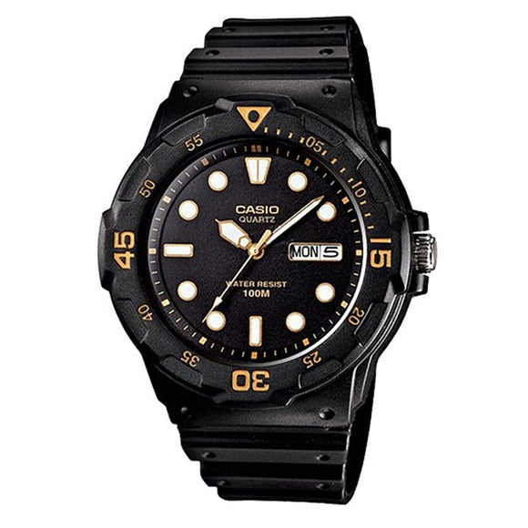 Casio Men's Black Dial Black Resin Band Analog Watch MRW-200H-1EV