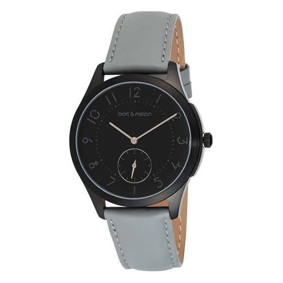 Bart & Melon Unisex Black Dial Leather Strap Watch - 15-NG013-2NNG 1