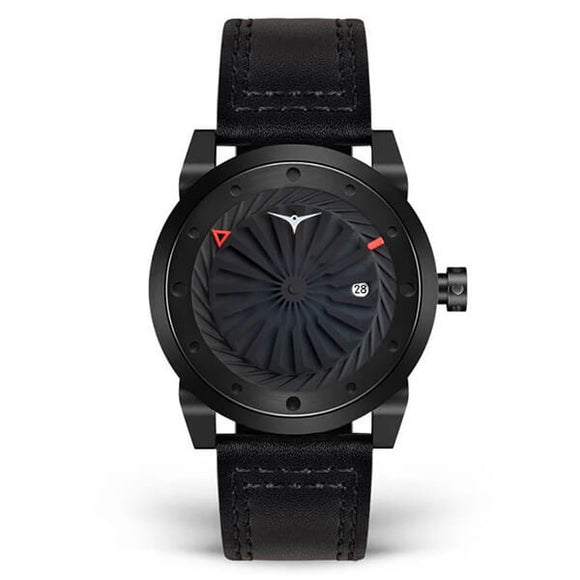 Zinvo Men's Leather Strap Automatic Mechanical Watch - Blade Phantom 1
