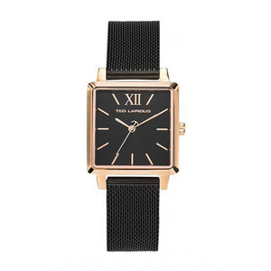 Ted Lapidus Women's Black Plated Stainless Steel Watch - C0105UNIX