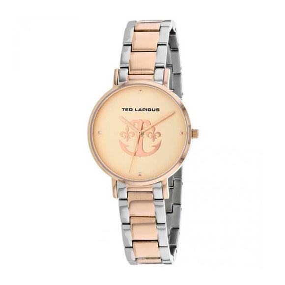 Ted Lapidus Women's Rose Gold Plated Stainless Steel Watch - A0742YRPX