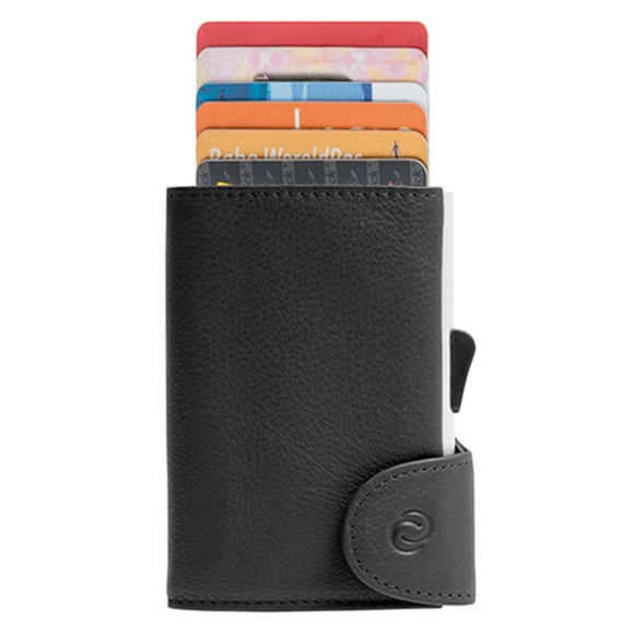 C-Secure Single Genuine Leather Wallet - WCH nero