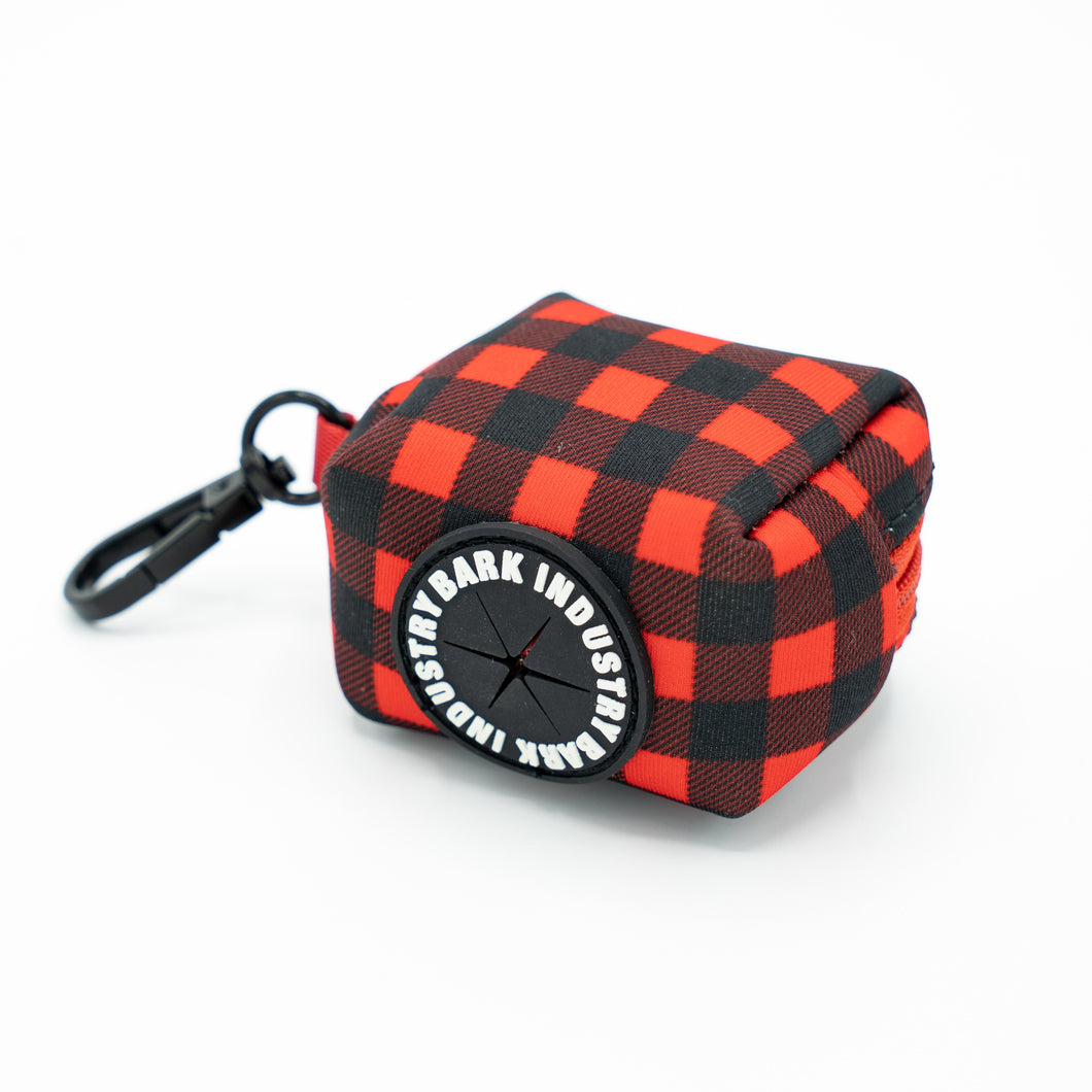 Bark Industry Lumber Jack Plaid Poop Bag Dispenser