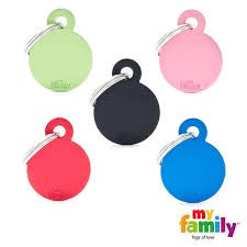 My Family Aluminium Circle Tag