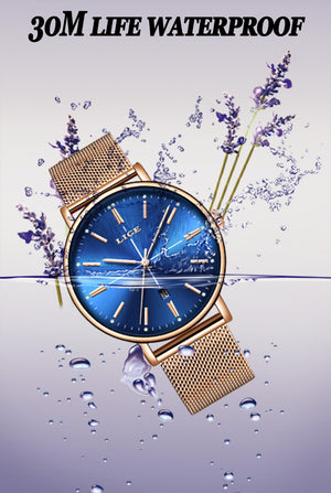 BeautyBossy 2020 LIGE Luxury Watches Blue Line