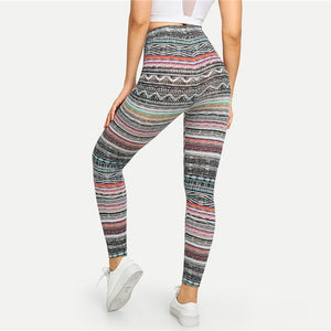 BeautyBossy 2020 Multicolor High Waist Tribal Legging