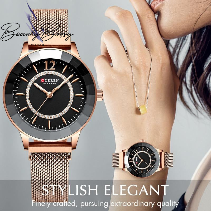 BeautyBossy 2020 Curren Luxury Watches Rose & Gold