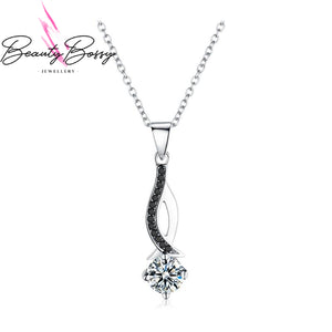 BeautyBossy 925 Sterling Silver Necklaces Pendant  Black Spinel Stone